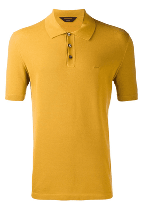 Ermenegildo Zegna logo embroidered polo shirt - Yellow