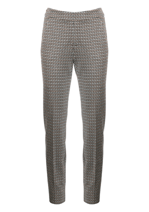 Luisa Cerano houndstooth tailored trousers - Neutrals