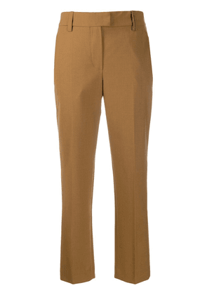 Brunello Cucinelli slim-fit tailored trousers - Brown