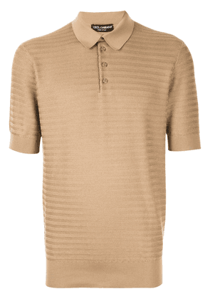 Dolce & Gabbana Henley polo shirt - Brown