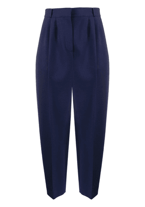 Alexander McQueen cropped peg trousers - Blue