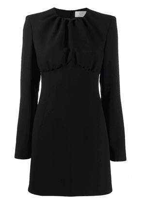 Sara Battaglia long sleeve mini dress - Black