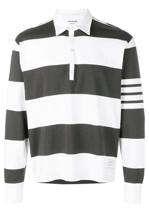 Thom Browne 4-bar Rugby Stripe Oversized Polo - Green