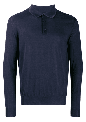 Ermenegildo Zegna fine knit polo shirt - Blue