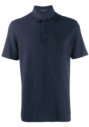 Ermenegildo Zegna chest pocket polo shirt - Blue