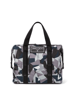 ARLINGTON Anthracite Mix Camo Print Nylon Weekend Holdall Tote