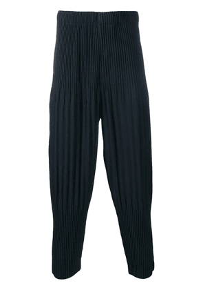 Homme Plissé Issey Miyake pleated tapered trousers - Blue
