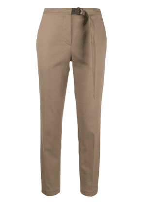 Brunello Cucinelli cropped belted trousers - Brown