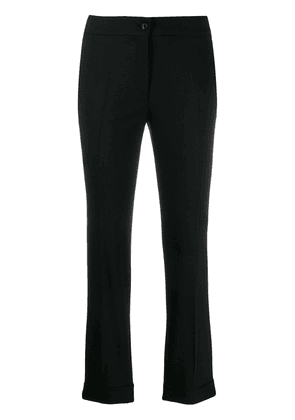 Etro tailored cropped trousers - Black