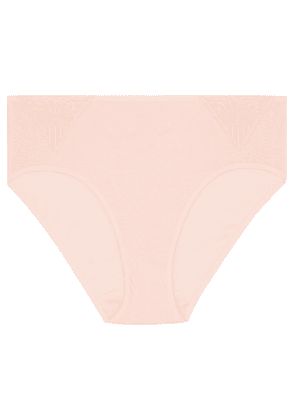 Hanro - Malene Crocheted Lace-trimmed Cotton-jersey Briefs - Pastel pink