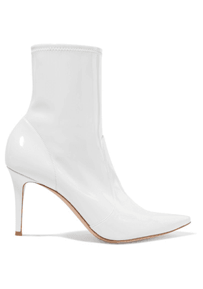 Gianvito Rossi - 85 Patent-leather Ankle Boots - White