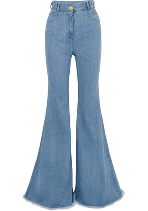 Balmain - High-rise Flared Jeans - Light blue