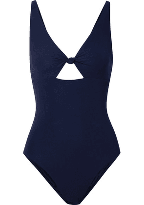 Tory Burch - Knotted Cutout Swimsuit - Navy