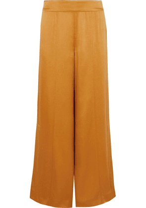 ARJÉ - Satin Wide-leg Pants - Saffron