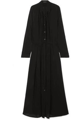 Ann Demeulemeester - Ruched Crepe De Chine Maxi Dress - Black