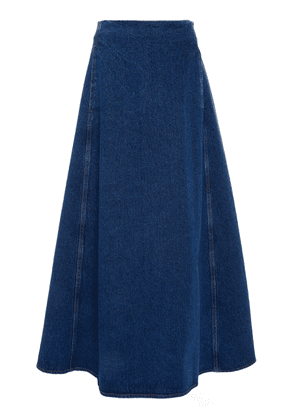 MM6 Denim A-Line Midi Skirt