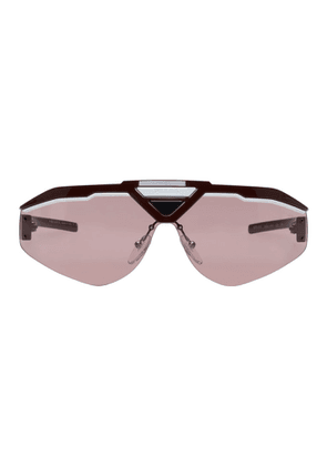 Prada Pink and Red Runway Sunglasses