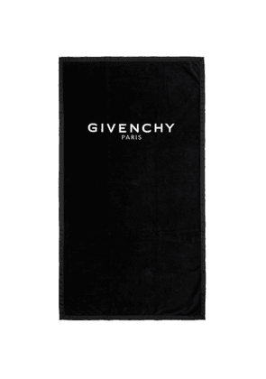 Givenchy Black Embroidered Logo Towel