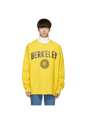 Calvin Klein 205W39NYC Yellow Berkeley Edition University Sweatshirt