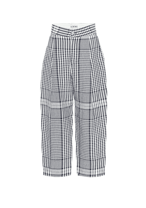 High-rise wide-leg linen pants