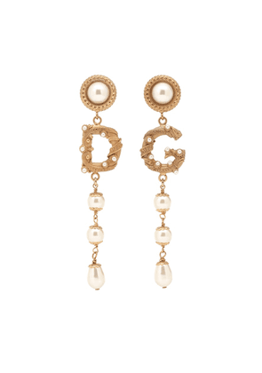 Clip-on drop earrings