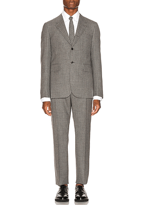 Thom Browne Wide Lapel Suit With Tie in Medium Grey - Gray. Size 0 (also in 1,2,3,4,5).