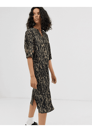 Weekday forest print midi shirt dress in multi