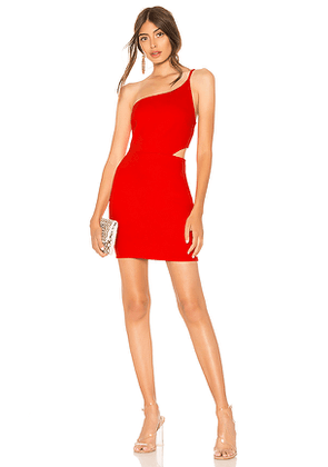 by the way. Rina Asymmetrical Mini Dress in Red. Size M.