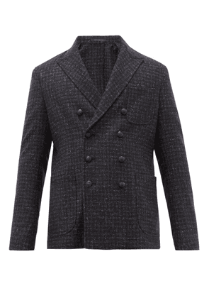 The Gigi - Ziggy Double Breasted Wool Blend Jacket - Mens - Black
