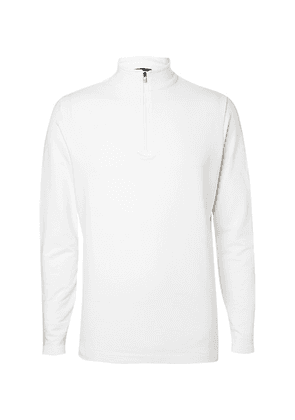 Dunhill Links - Baker Street Stretch Cotton And Modal-blend Half-zip Sweater - White