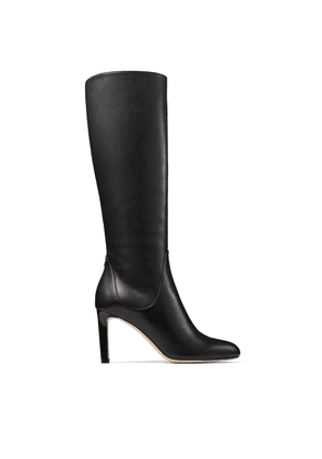 TEMPE 85 Black Calf Leather Knee Boots