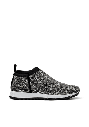 NORWAY Black Knit Trainers with Hot Fix Crystals