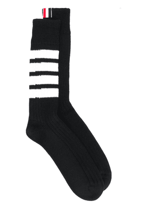 Thom Browne 4-bar knitted socks - Black