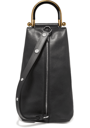 JW Anderson - Wedge Leather Shoulder Bag - Black