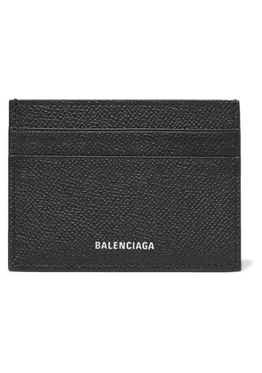 Balenciaga - Ville Printed Textured-leather Cardholder - Black