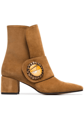 Boyy Yeuxlet suede and leather ankle boots