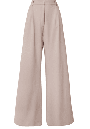 Michael Lo Sordo - Belle Grain De Poudre Wool Wide-leg Pants - Neutral