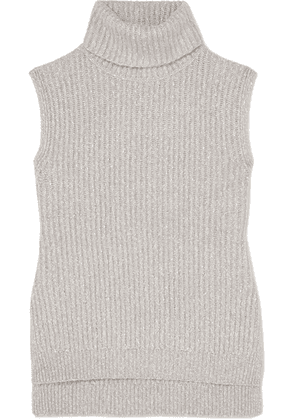See By Chloé - Mélange Ribbed-knit Turtleneck Sweater - Gray