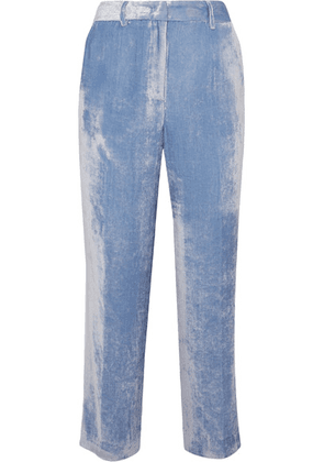 Sies Marjan - Willa Silk And Cotton-blend Corduroy Pants - Light blue