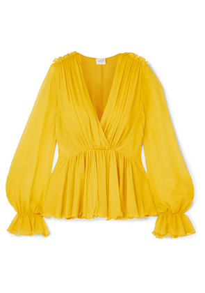 Giambattista Valli - Ruffled Silk-georgette Blouse - Yellow