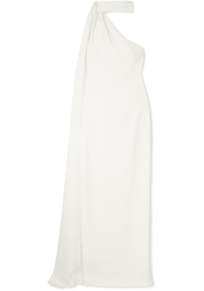 Brandon Maxwell - One-shoulder Draped Crepe Gown - White
