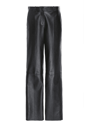 Loewe Leather Straight-Leg Pants