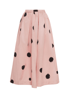 Christopher Kane Polka-Dot Satin Midi Skirt