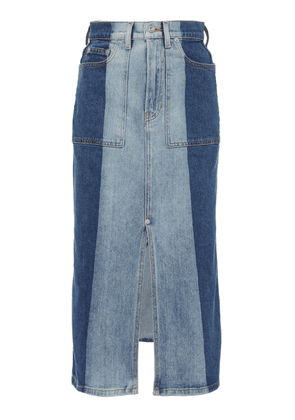 Proenza Schouler PSWL Two-Tone Denim Midi Skirt