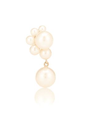 Federico Perle 14kt gold single earring with pearls