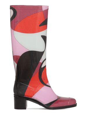 55mm Printed Rubber Rain Boots