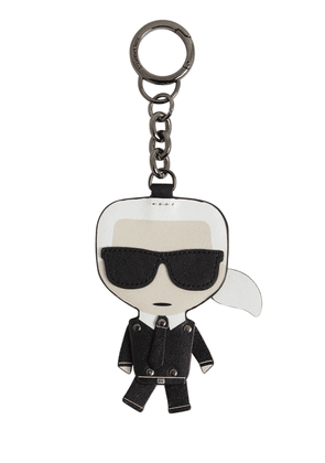 Iconic Karl Leather Key Chain