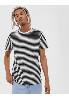 New Look stripe t-shirt in black