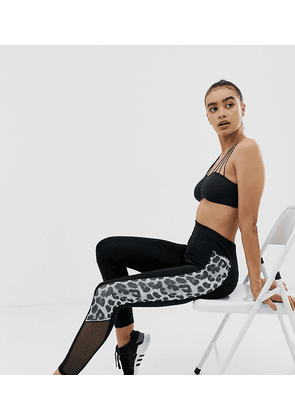 New Look leggings with panels in leopard print