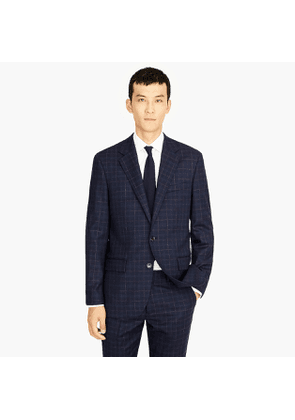 Ludlow Slim-fit suit jacket in Italian stretch windowpane wool